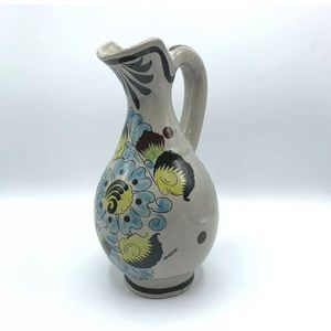 Tonala Mexico Pottery Pitcher Handpainted